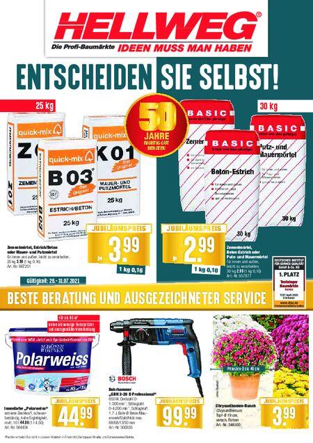 Hellweg-Baumarkt vom 26.07.2021