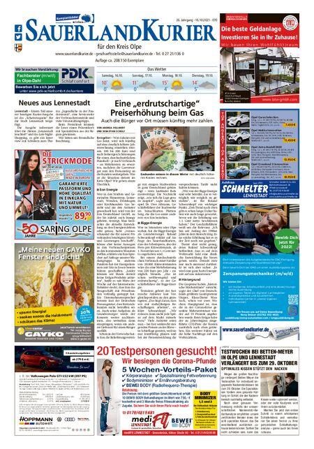 Sauerland Kurier Kreis Olpe vom 16.10.2021