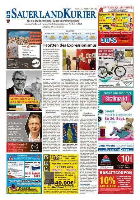 Sauerlandkurier Arnsberg / Ense vom 18.09.2021