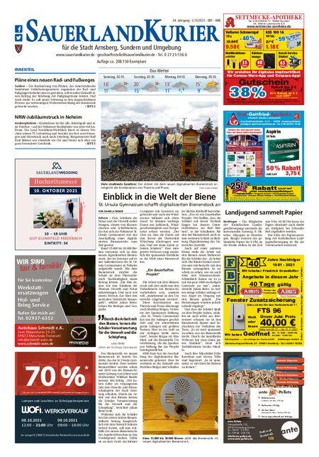 Sauerlandkurier Arnsberg / Ense vom 02.10.2021