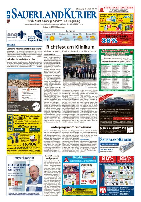 Sauerlandkurier Arnsberg / Ense vom 09.10.2021