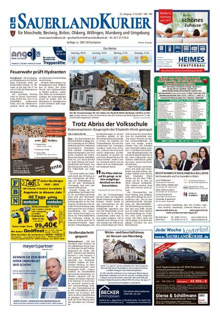 Sauerlandkurier Brilon/Olsberg/Willingen/Meschede/Bestwig vom 09.10.2021